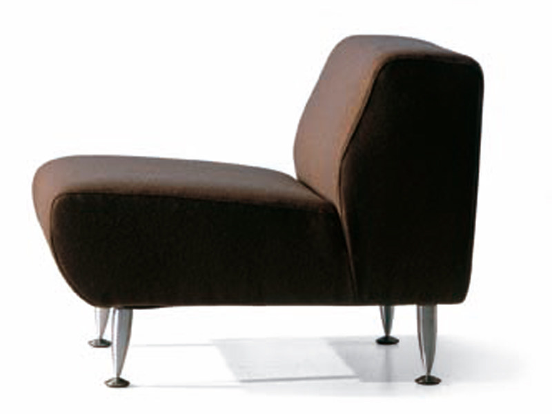 Leather fireside chair DAFNE | Armchair by ROSSIN