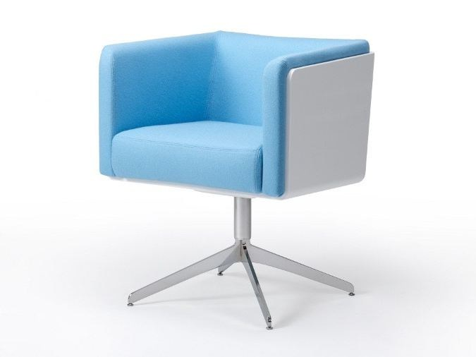Easy chair with 4-spoke base with armrests COCO | Easy chair with 4-spoke base by ROSSIN