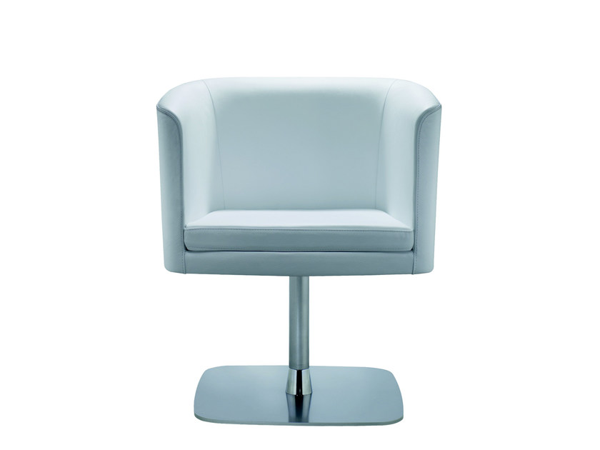 Swivel easy chair with armrests COURT | Easy chair by ROSSIN
