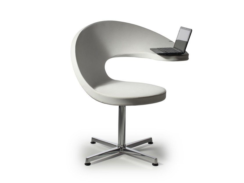 Swivel easy chair with 4-spoke base N@T | Easy chair with 4-spoke base by ROSSIN
