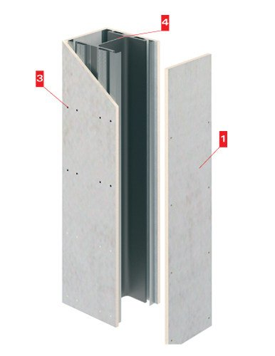 Fireproof panel for structural elements Tecbor SP by LINK industries
