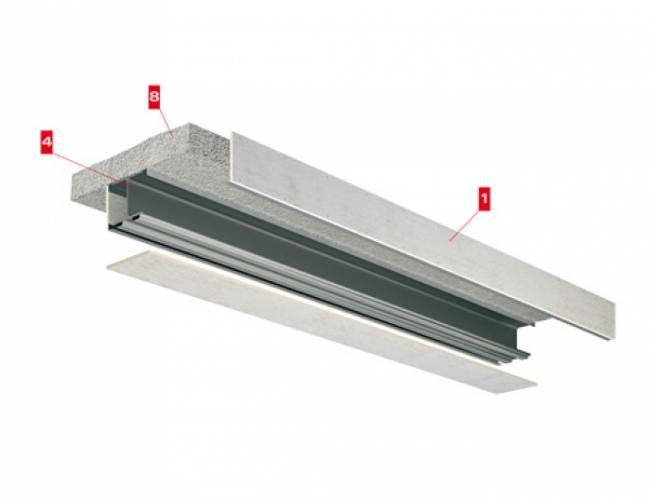 Fireproof panel for interior partition Travi Tecbor sp by LINK industries