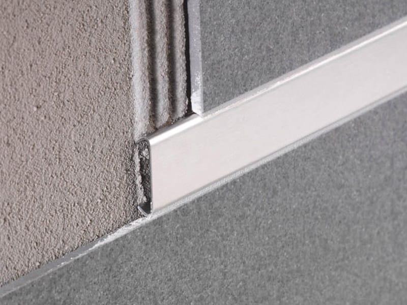 Stainless steel listello for ultra-thin tiles LISTEC LI by PROFILITEC