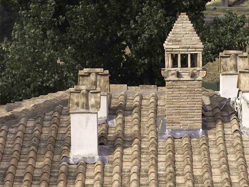 Coppo / tegola in laterizio Copertura Toscana o Romana Vernaccia