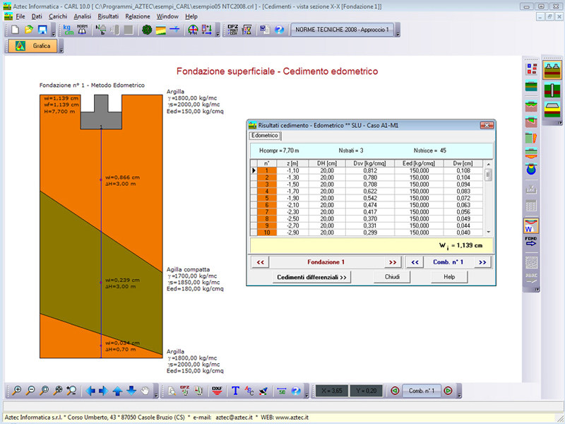 Foundation calculation (plinth, slab, ground beam) CARL LT by Aztec Informatica