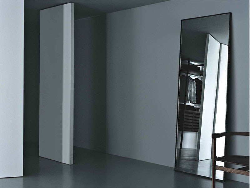 Freestanding rectangular mirror REFLECTION by Porro