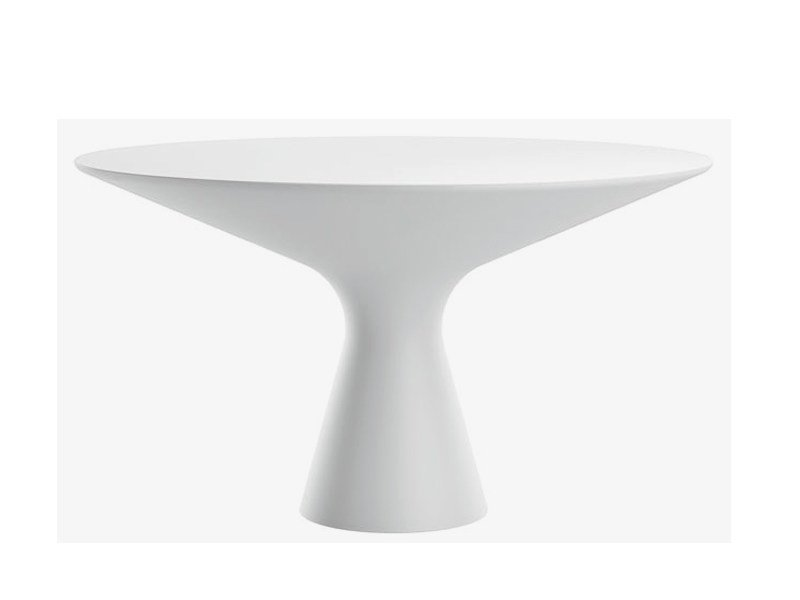Round Cristalplant® living room table BLANCO by Zanotta