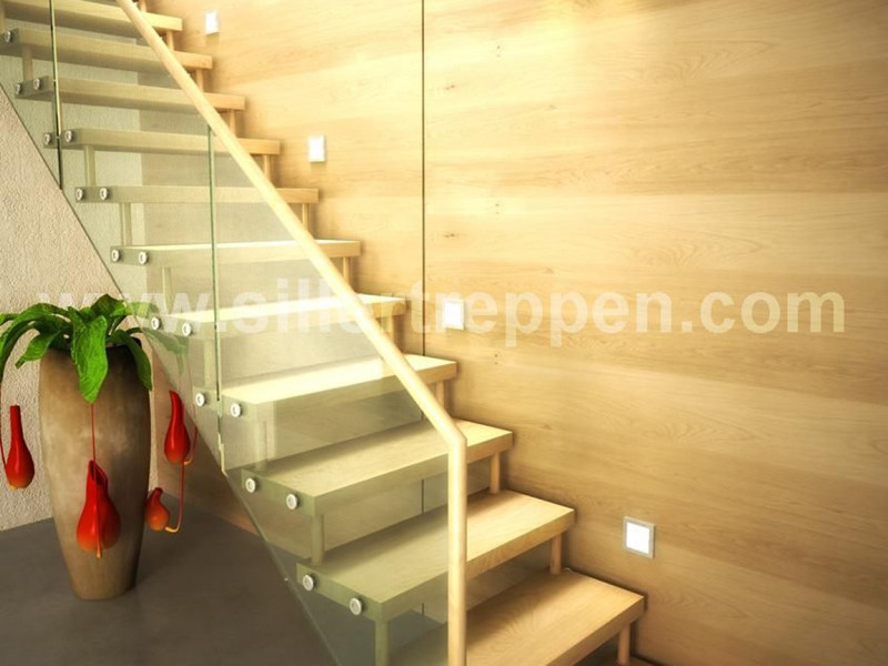 Self supporting Open staircase ATHEN by Siller Treppen