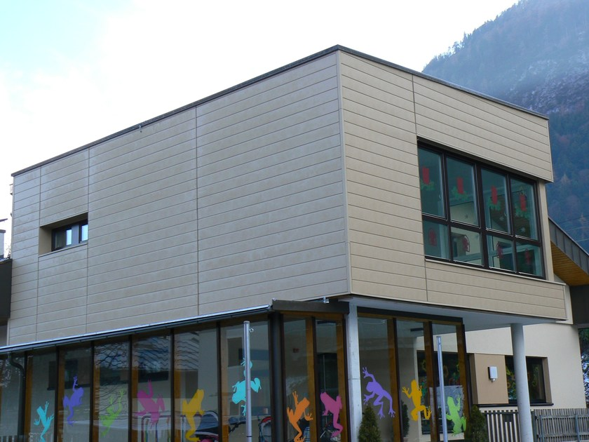 Doga di rivestimento in alluminio Scuola materna con Doghe, colorazione Sahara P.10