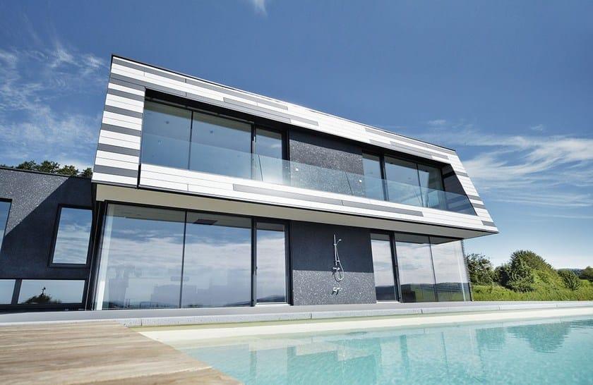 Doga di rivestimento in alluminio Villa con facciata in Doghe PREFA