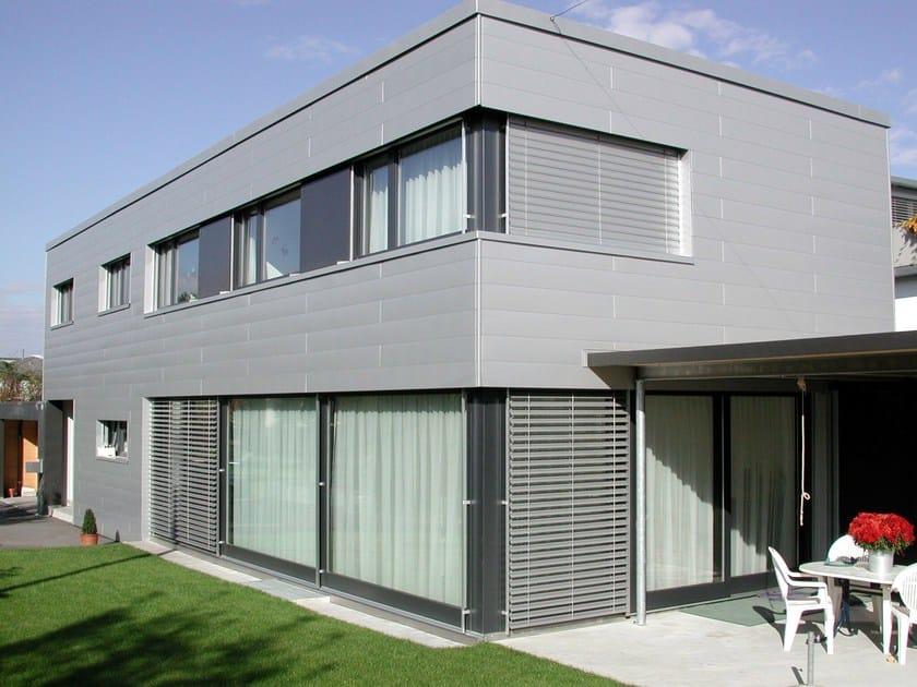 Doga di rivestimento in alluminio Casa privata con rivestimento in Doghe di rivestimento PREFA