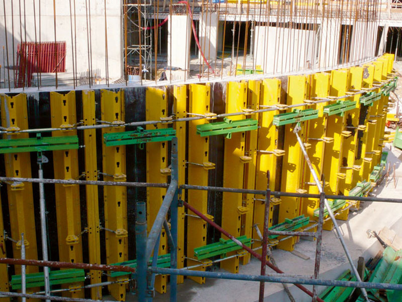 Formwork and formwork system for concrete Round formwork by Faresin Formwork