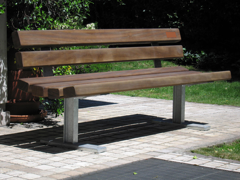 Wooden Bench with back BELVEDERE by A.U.ESSE