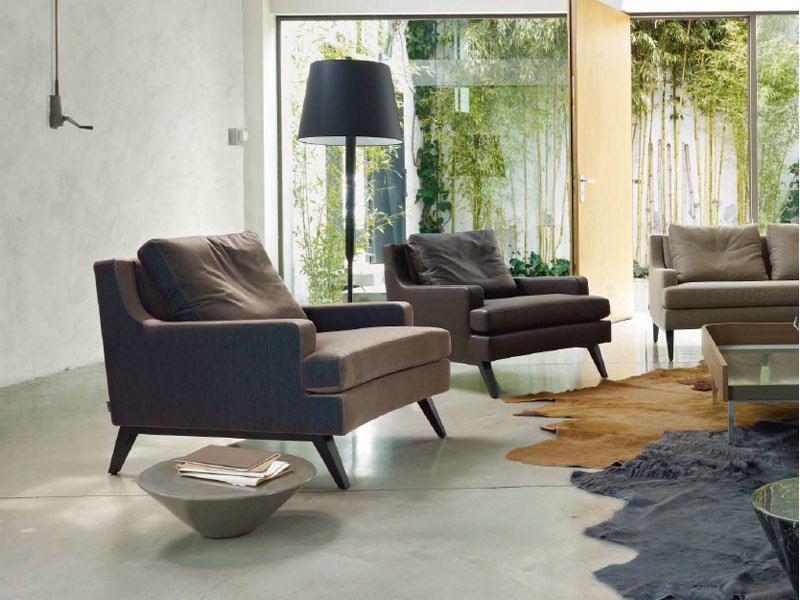 Armchair with armrests BELEM by Ligne Roset