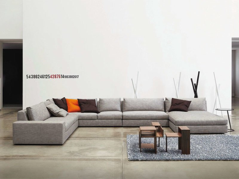 Sectional sofa EXCLUSIF By Ligne Roset design Didier Gomez