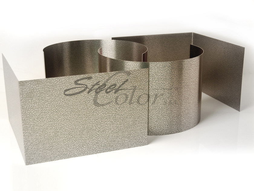 Textured and striped sheet metal Embossed Stainless Steel by STEEL COLOR