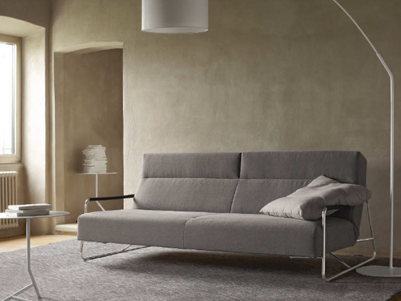Fabric sofa bed with headrest JANUS by Ligne Roset