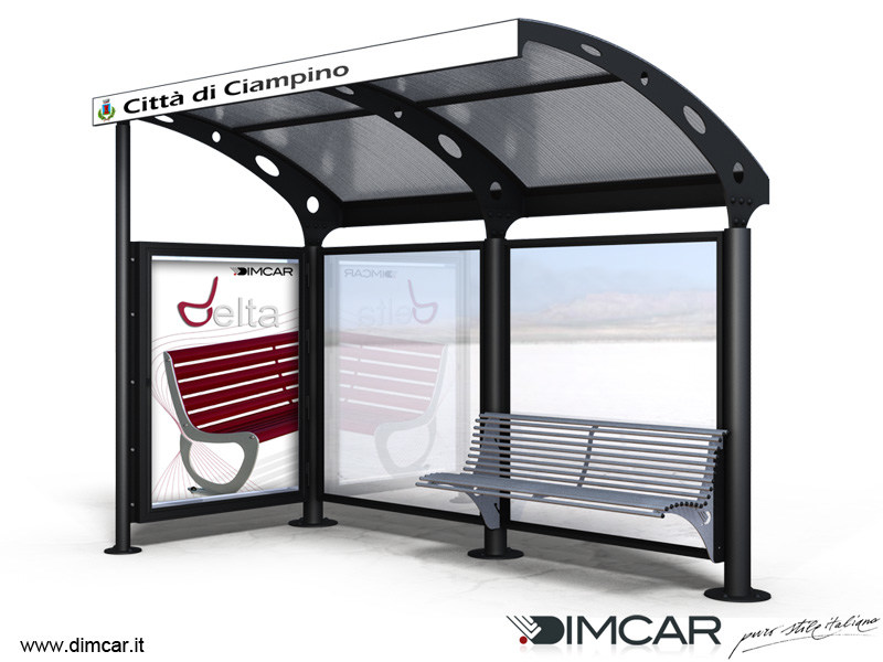 Porch for bus stop Pensilina Ciampino by DIMCAR