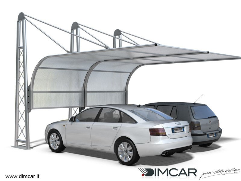 Steel Carport Airone by DIMCAR