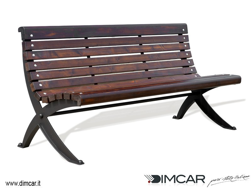 Contemporary style metal Bench with back Panchina Dora by DIMCAR