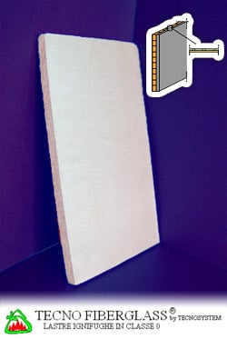 Acoustic fireproof gypsum plasterboard TECNO FIBERGLASS® by TECNOSYSTEM Building