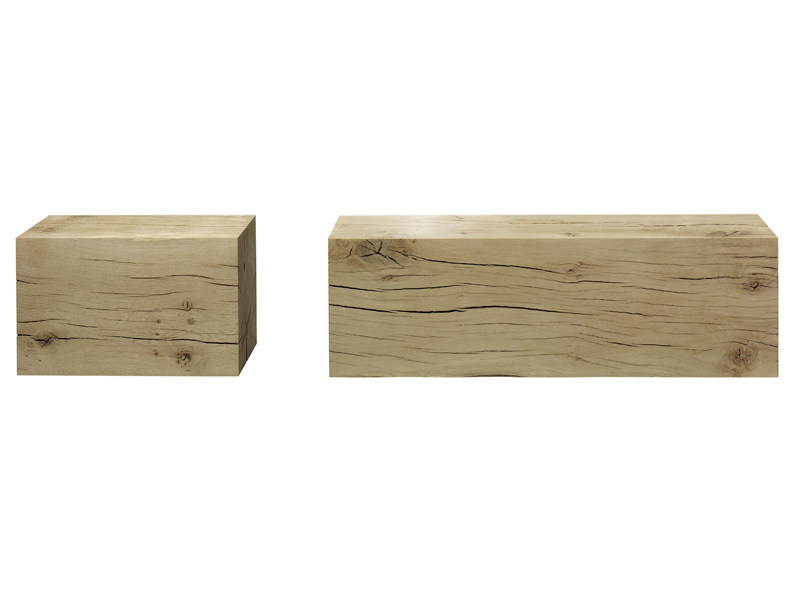 Solid wood stool / coffee table RAW by e15