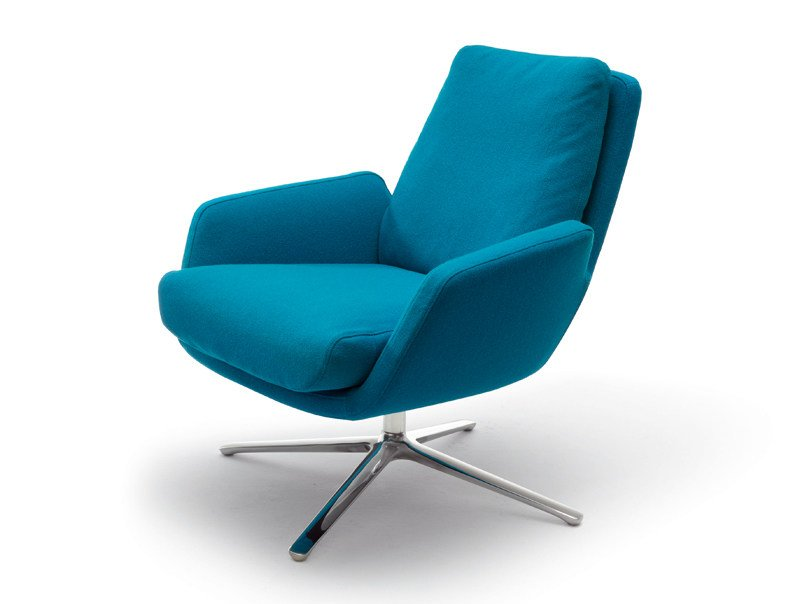 Swivel upholstered armchair CORDIA | Armchair by COR