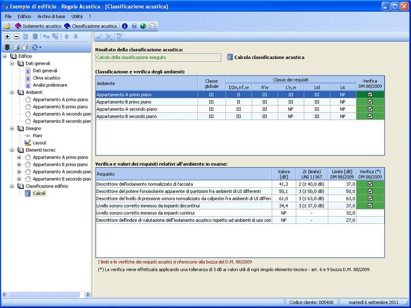 ACUSTICA ACUSTICA - Calcolo classificazione acustica