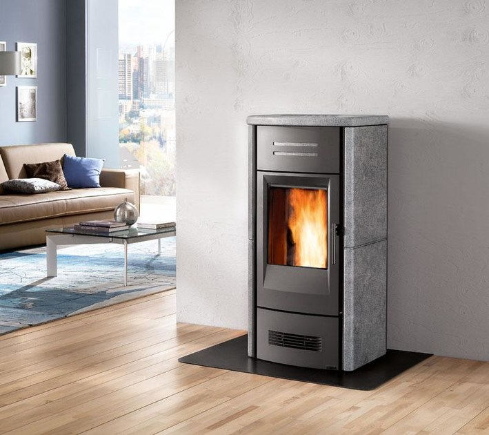 Pellet Heating stove P963 M THERMO | Heating stove by Piazzetta