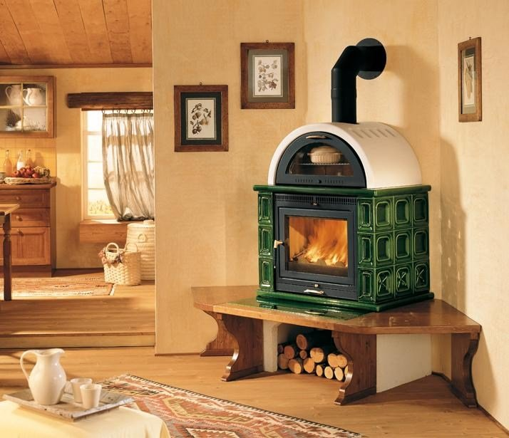 Wood-burning stove with Oven KAMF | Stove with Oven by Piazzetta