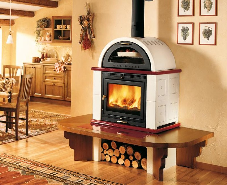 Wood-burning stove with Oven MOMF | Stove with Oven by Piazzetta