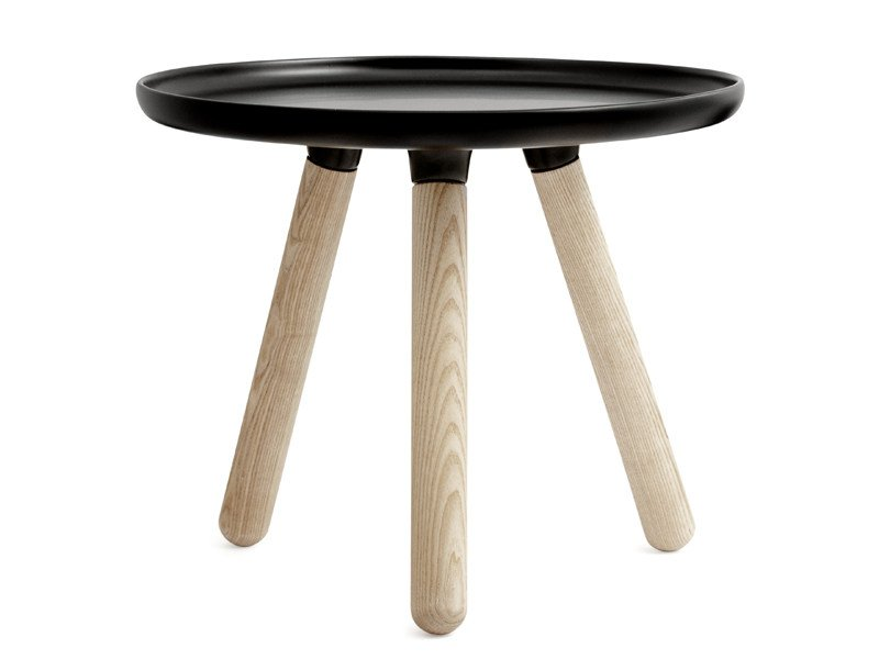 Round ash coffee table TABLOO by Normann Copenhagen