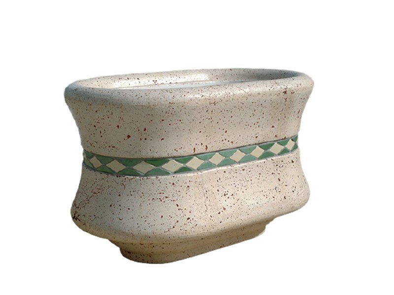 Cement Flower pot AR058 by Lazzari