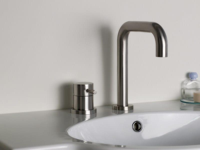 2 hole stainless steel washbasin mixer STIRIANA 6400+6190 by MINA