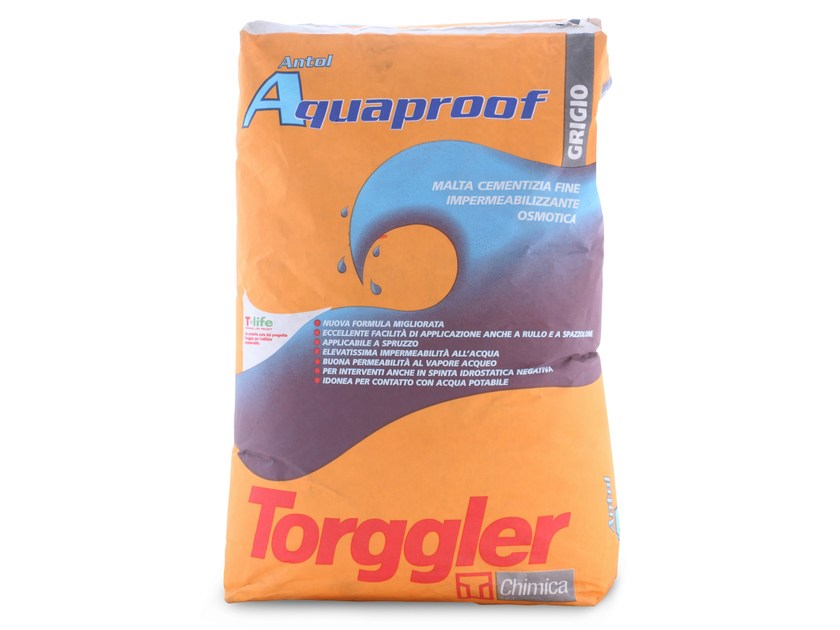 Cement-based waterproofing product ANTOL AQUAPROOF by Torggler Chimica