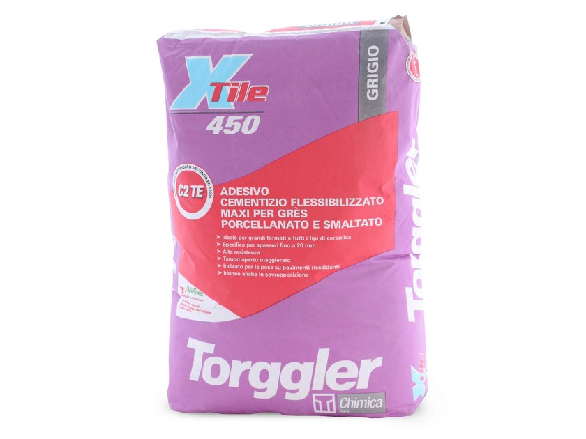 Cement-based glue X-TILE 450 by Torggler Chimica