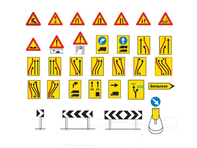 Construction site safety signage / Road sign Road sign by Lazzari