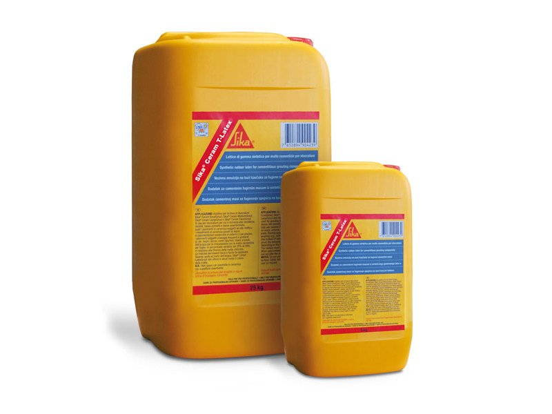 Additive for cement and concrete SIKA® CERAM T-LATEX by SIKA ITALIA