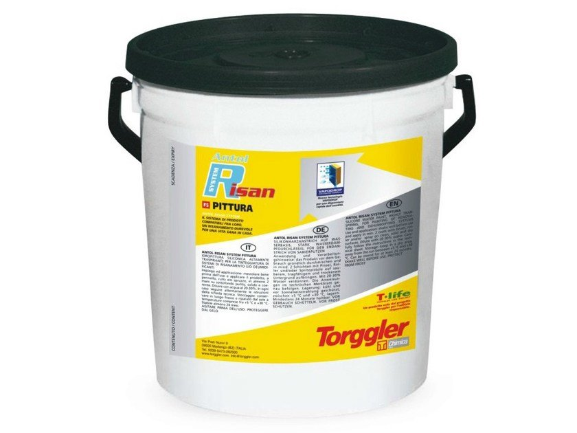Breathable water-based paint ANTOL RISAN SYSTEM | Water repellent water-based paint by Torggler Chimica