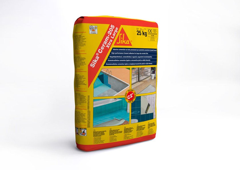 Cement-based glue SIKA® CERAM-205 XTRA LARGE by SIKA ITALIA
