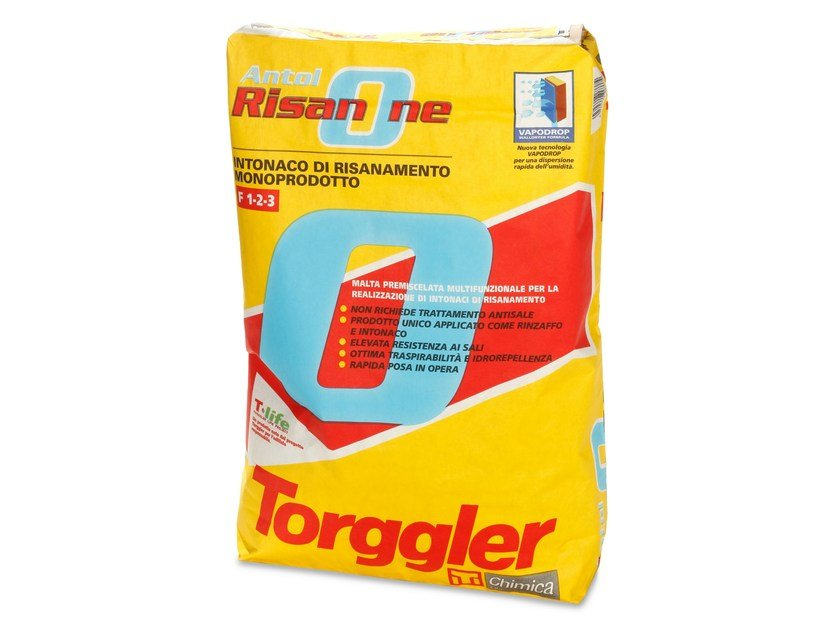 Renovating and de-humidifying additive and plaster ANTOL RISAN ONE by Torggler Chimica