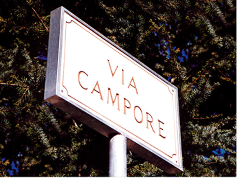 Laminate street name plate SG178 by Lazzari
