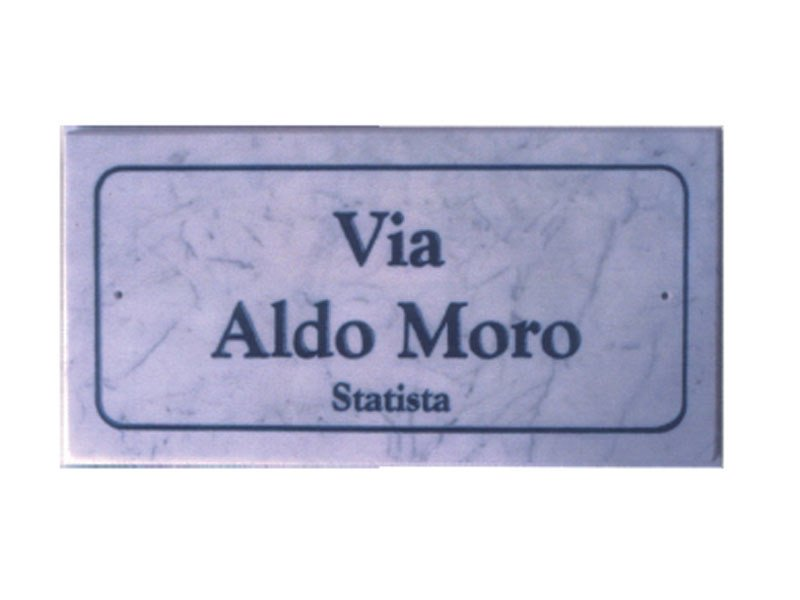 Marble street name plate SG182 by Lazzari