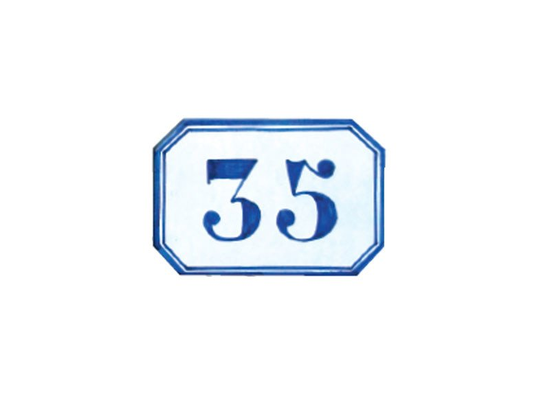 Ceramic house number SG185 by Lazzari