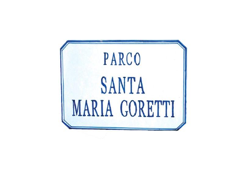 Ceramic street name plate SG184 by Lazzari