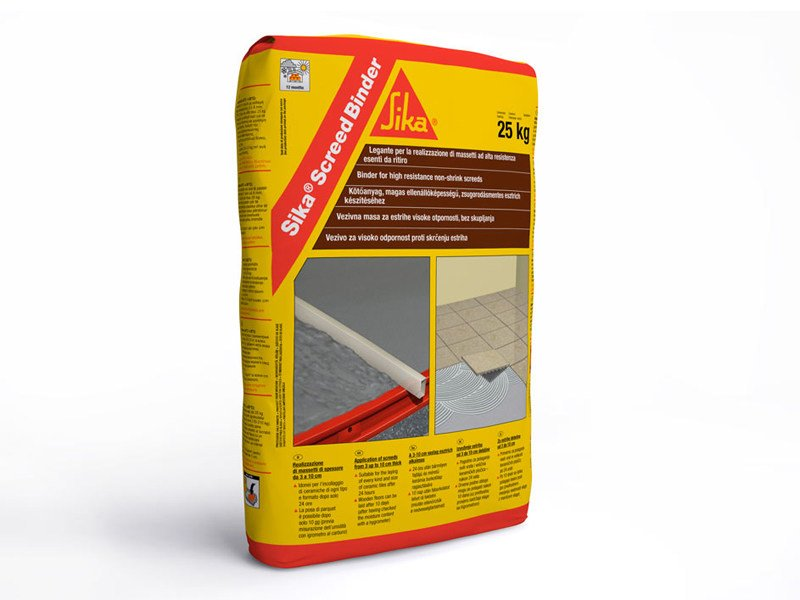 Screed and base layer for flooring SIKA® SCREED BINDER by SIKA ITALIA