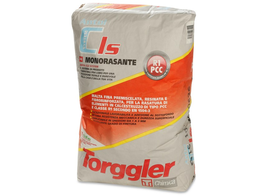 Skim coat and cementitious finish for plaster ANTOL CLS SYSTEM MONORASANTE by Torggler Chimica