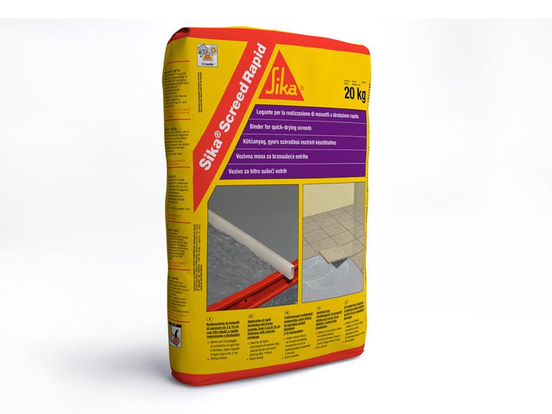 Screed and base layer for flooring SIKA® SCREED RAPID by SIKA ITALIA