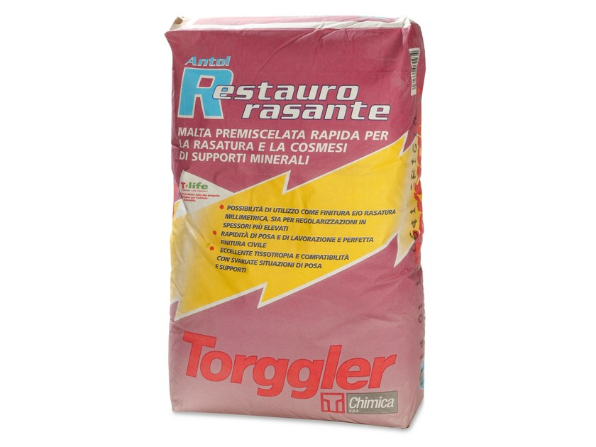 Skim coat and cementitious finish for plaster ANTOL RESTAURO RASANTE by Torggler Chimica