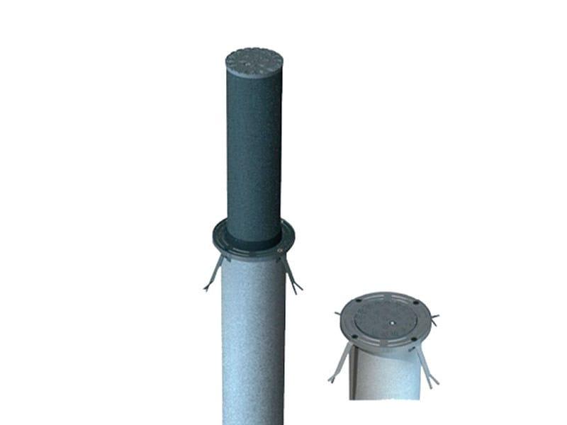Retractable cylindrical bollard AR219 by Lazzari